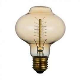 E27 40W D80 Lantern Around The Silk Restaurant Hotel, Edison Wedding Banquet Bar Retro Decorative Light Bulb