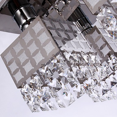 Chandelier Modern Crystal Stainless Living 4 Lights