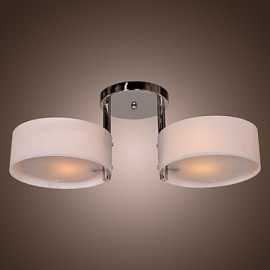Max 60W Modern/Contemporary Chrome Metal Chandeliers / Flush Mount Living Room / Bedroom / Dining Room / Entry