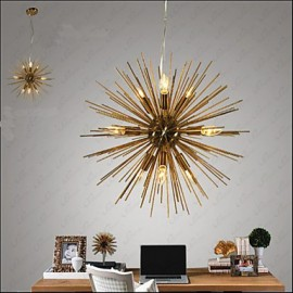 Retro Imitation Copper Creative line 10 Lights Chandeliers