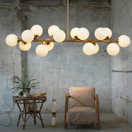 Modern/ Contemporary 16 Light Chandelier with Glass Shade for Living Room, Dining Room and Bedroom LED Lamp