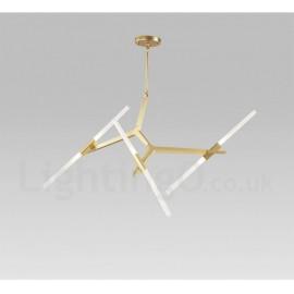 6 Light Modern/ Contemporary 2 Tier Chandelier for Living Room/ Dining Room Light (Black, Golden)