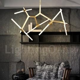 10 Light Modern/ Contemporary Chandelier for Living Room/ Dining Room Light (Black, Golden)