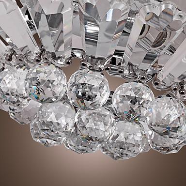 Modern Semi Flush Mount in Crystal Feature