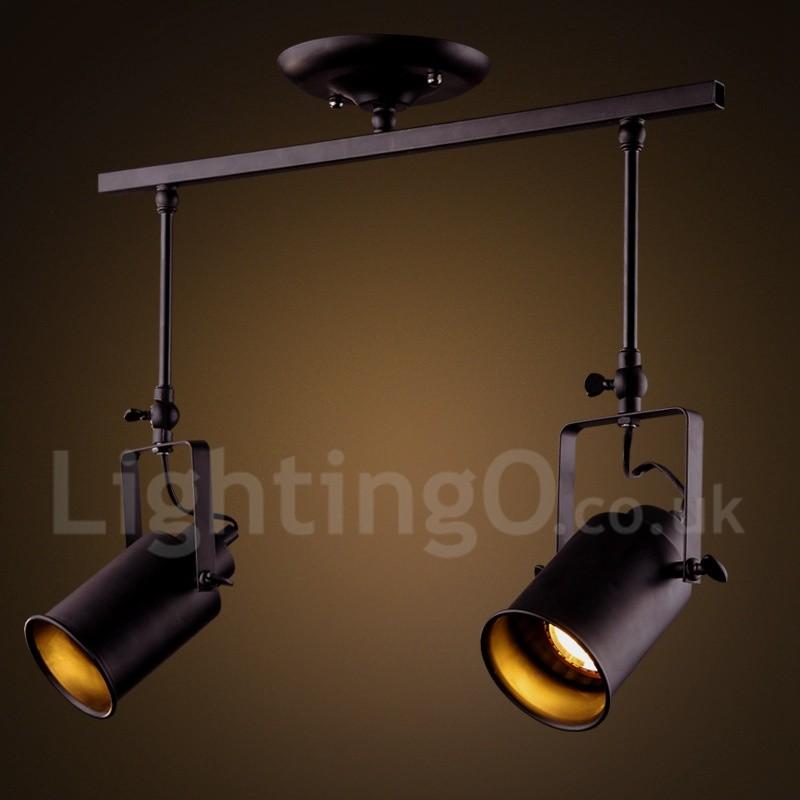 vintage style lighting fixtures. 2 Light Rustic/ Lodge Vintage Retro Painting Feature Metal Spot For Mini Style Lighting Fixtures