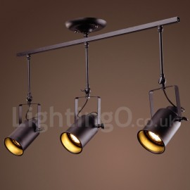 3 Light Rustic/ Lodge Vintage Metal Spot Light for Mini Style Light Dining Room Kitchen Study Room/Office Entry Game Room