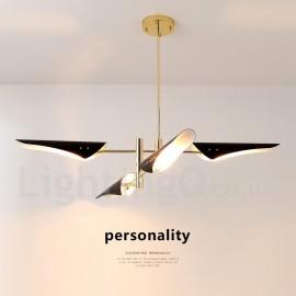 2 Tier Modern/ Contemporary 4 Light Chandelier for Living Room, Dining Room, Study Room/Office