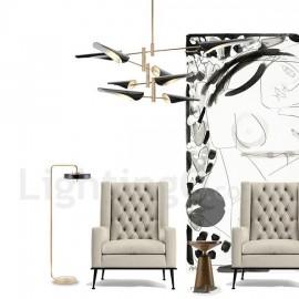 Modern/ Contemporary 4 Tier 8 Light Chandelier for Living Room, Dining Room, Study Room/Office