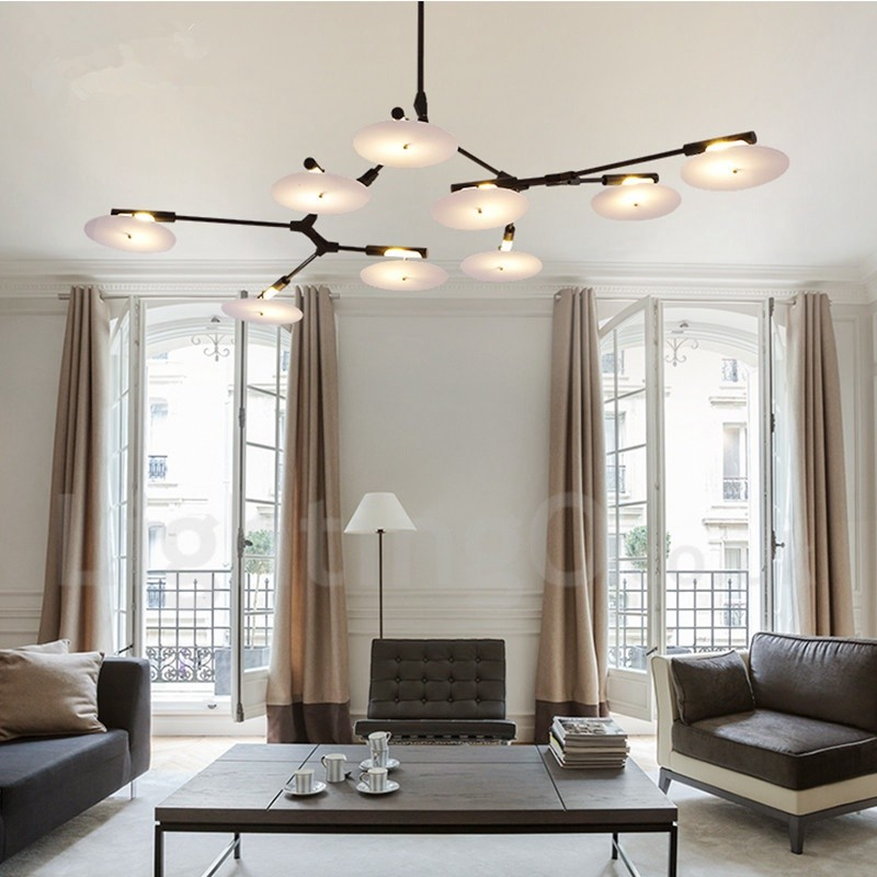 Modern Chandeliers Contemporary Dining Room: Black 9 Light Modern/ Contemporary Chandelier Lamp For
