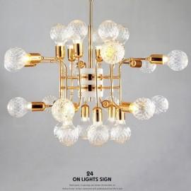 4 Tier Modern/ Contemporary 24 Light Chandelier Lamp for Living Room Dining Room Bedroom LED Light