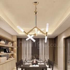 Modern/ Contemporary 2-Tier 6 LED Light Golden Chandelier Lamp for Living Room, Bedroom, Dining Room
