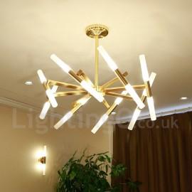 Modern/ Contemporary 2-Tier 16 LED Light Golden Chandelier Lamp for Living Room, Bedroom, Dining Room