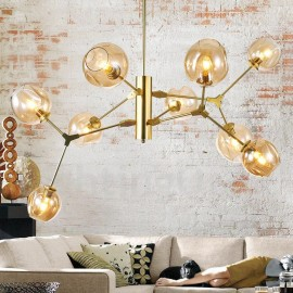 Chandelier with Glass Shade Modern/ Contemporary Style for Living Room, Dining Room, Bedroom