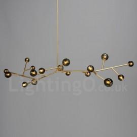 17 Light Chandelier Vintage Country LED Light for Dining Room Living Room