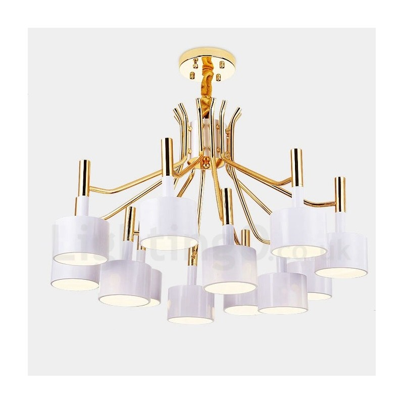 Modern contemporary 12 light 2 tier chandelier lamp for for Living room chandelier