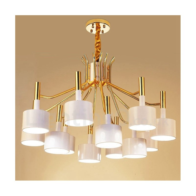 Modern Contemporary 12 Light 2 Tier Chandelier Lamp For