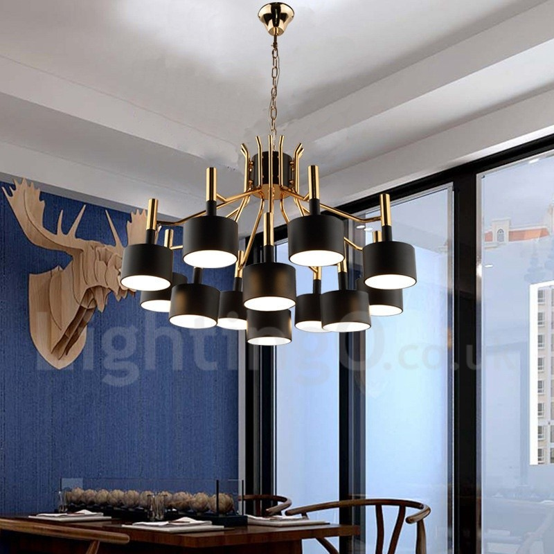Modern contemporary 12 light 2 tier chandelier lamp for for Dining room lighting contemporary