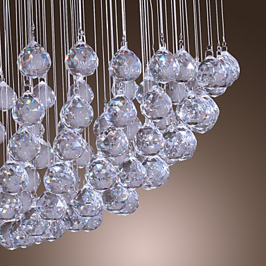 Max 50W Modern/Contemporary Crystal / Bulb Included Chrome Chandeliers / Flush Mount Living Room / Bedroom / Dining Room