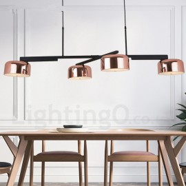 4 Light Single Tier Modern/ Contemporary LED Rotatable Chandelier Light for Dining Room Lamp