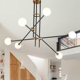 Modern/ Contemporary 6 Light 3-Tier Chandelier Light for Dining Room, Living Room Lamp