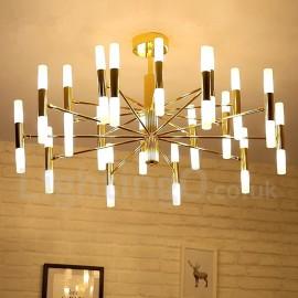 40 Light Golden 2-Tier Modern/ Contemporary Chandelier Light for Living Room, Dining Room, Bedroom LED Lamp