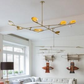 Modern/ Contemporary 8 Light Chandelier Light for Living Room, Dining Room, Bedroom LED Lamp