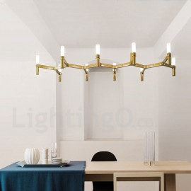 10 Light Single Tier Modern/ Contemporary Chandelier Lamp for Living Room Dining Room Light