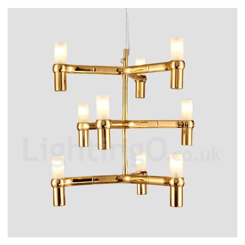 9 Light 3 Tier Modern Contemporary Chandelier Lamp For