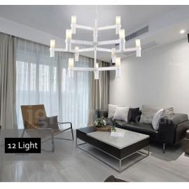 12 Light 3 Tier Modern/ Contemporary Chandelier Lamp for Living Room Dining Room Light