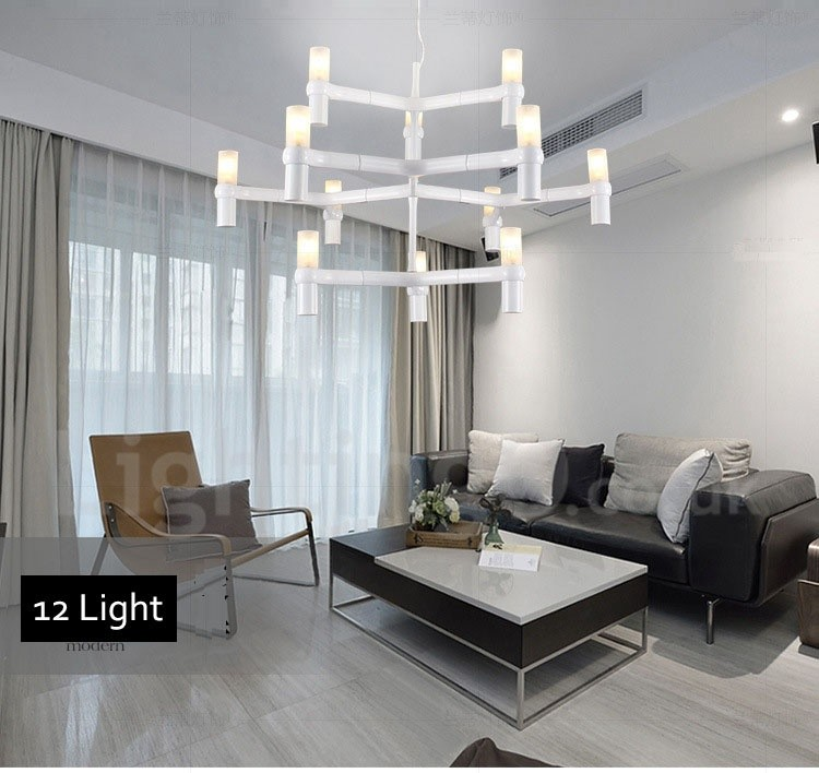 12 light 3 tier modern contemporary chandelier lamp for for 3 light dining room light