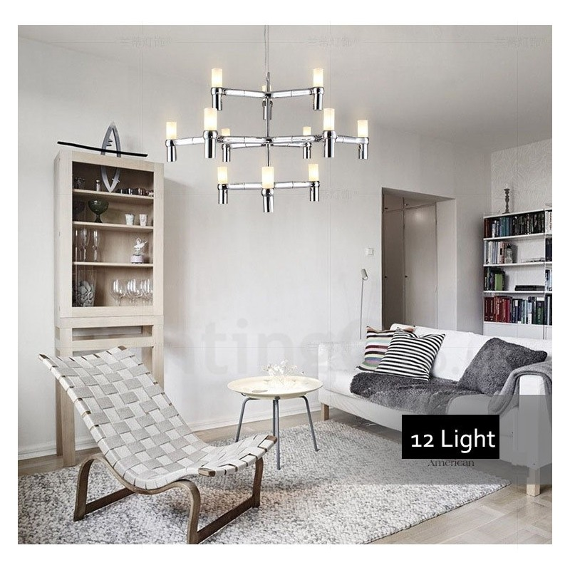 12 Light 3 Tier Modern Contemporary Chandelier Lamp For