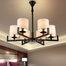 Modern/ Contemporary 6 Light Single Tier Chandelier Lamp for Dining Room, Living Room Light