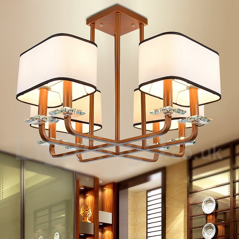 modern contemporary 8 light single tier chandelier lamp