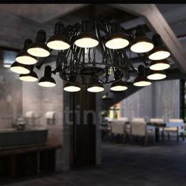 16 Light Modern/ Contemporary Single Tier Chandelier Lamp for Dining Room, Living Room Light