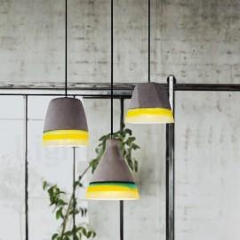1 Light Vintage Concrte Dining Room Pendant Light for Living Room Study Room/Office Lamp