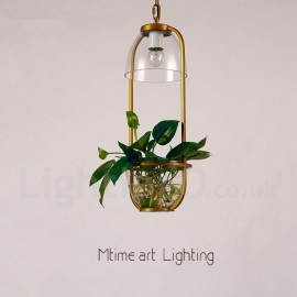 Traditional / Classic Single Light Glass Dining Room Pendant Light for Study Room/Office Lamp