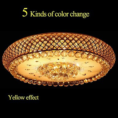 Round Crystal LED Absorb Dome Light Living Room LED Ceiling Lamp Diameter 80CM Contains 15 LED Bulbs