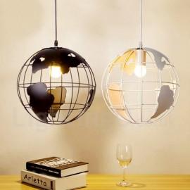 Country Vintage Globe Dining Room Metal Pendant Light for Living Room Bedroom Dining Room Kitchen