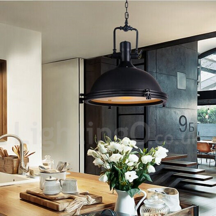 Black Vintage Dining Room Metal Pendant Light Lightingo Co Uk