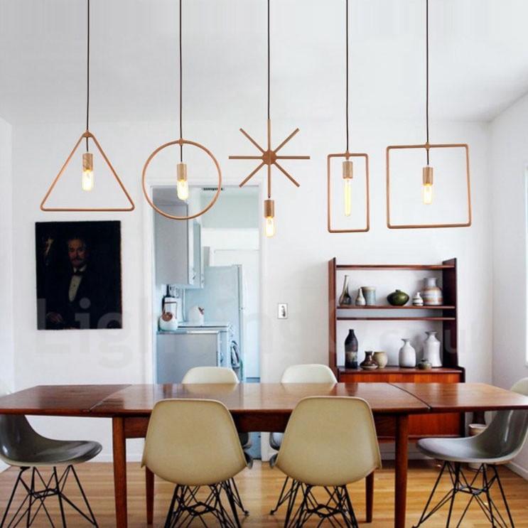 1 Light Rustic / Lodge Wooden Dining Room Pendant Light