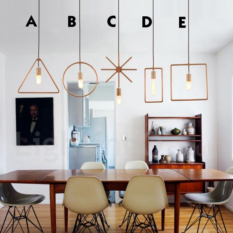 Wooden Study Room: 1 Light Rustic / Lodge Wooden Dining Room Pendant Light