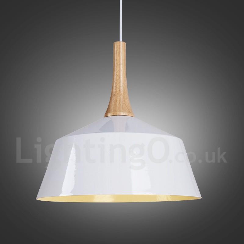 Modern/ Contemporary Dining Room Wood Metal Pendant Light