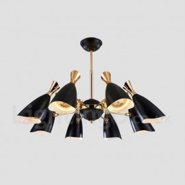 Modern/ Contemporary Dining Room 8 Light Chandeliers for Living Room, Bedroom Lamp