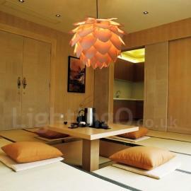 Rustic / Lodge Dining Room Living Room Bedroom Wood Pinecone Pendant Light