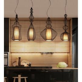 Country Vintage Metal Vase Shape Pendant Light for Dining Room, Living Room, Bedroom, Kitchen Lamp