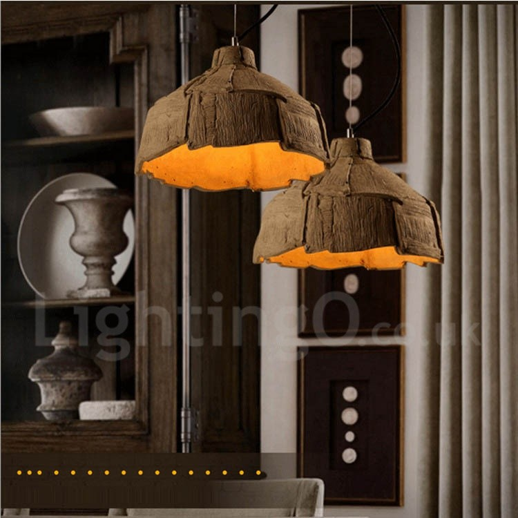 Vintage Concrte Pendant Light For Dining Room Living Room
