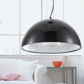 Black Rustic / Lodge 1 Light Living Room Bedroom Pendant Light