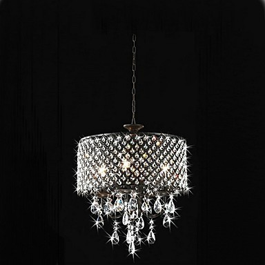 MAX:60W Traditional/Classic Crystal Chrome Metal Chandeliers Bedroom / Dining Room / Study Room/Office / Hallway