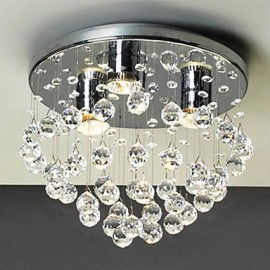 Max 40W Modern/Contemporary Crystal / Mini Style / Bulb Included Electroplated Flush Mount Living Room / Study Room/Office