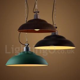 Retro / Vintage Dining Room 1 Light Pendant Light for Study Room/Office Lamp